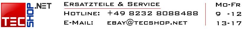 Logo TecShop - Ihr Ersatzteil Spezialist - Tel: +4982328088488